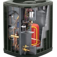 How does a split system heat pump function?