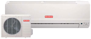 Goodman Ductless Mini Split System 13SEER 1Ton Goodman Ductless Mini Split Heat Pump 13.0 Seer