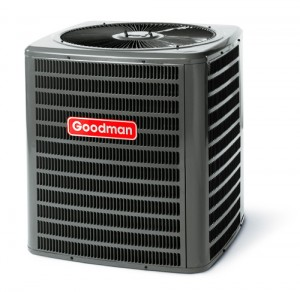 goodman condenser 300x292 Where on a heat pump is the condenser?